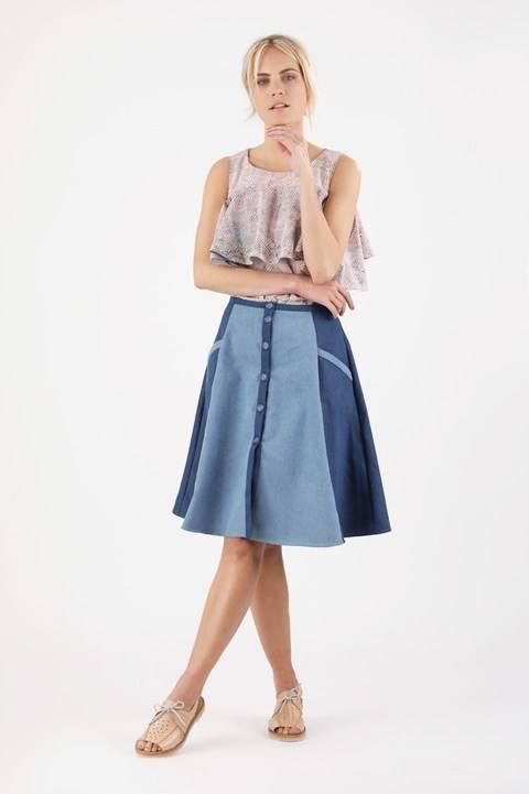 Jupe Marta - Patron de couture avec tutoriel en Français - 2 patrons en 1 chez Makerist