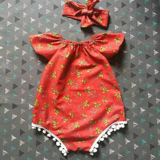 Baby girl romper PDF Pattern short sleeves and sleeveless with Videotutorial at Makerist - Image 1