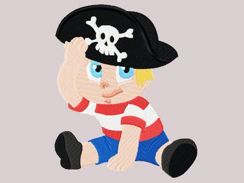 Stickdatei Pirat Junge bei Makerist