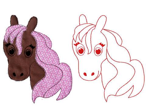 Stella Zauberpferdchen Redwork Doodle Stickdatei bei Makerist