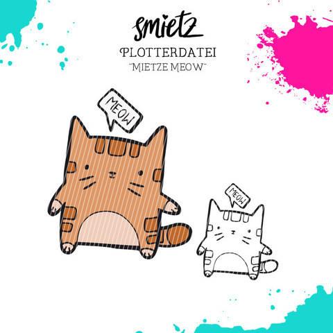"""Plotterdatei Kastentierchen """"Mietze Meow"""" inklusive Minilizenz bei Makerist"""