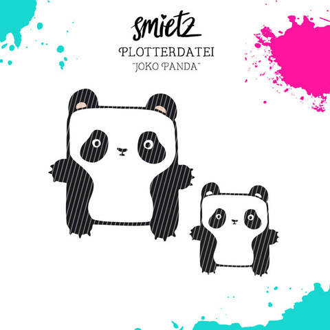 "Plotterdatei Kastentierchen ""Joko Panda"" inklusive Minilizenz bei Makerist"