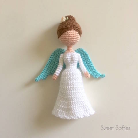 Christmas Angel Amigurumi Crochet Female Girl Doll