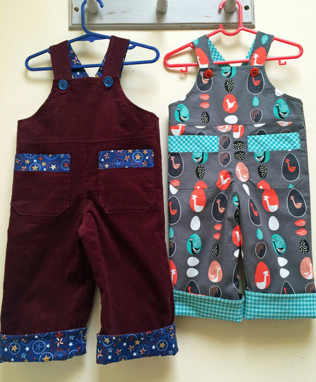 Baby Boy Reversible Overalls/Romper Sewing Pattern at Makerist - Image 1