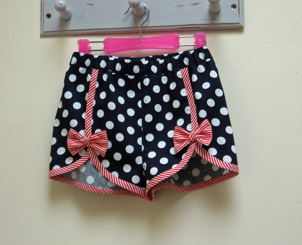Girls Summer Shorts sewing pattern GIDGET SHORTS