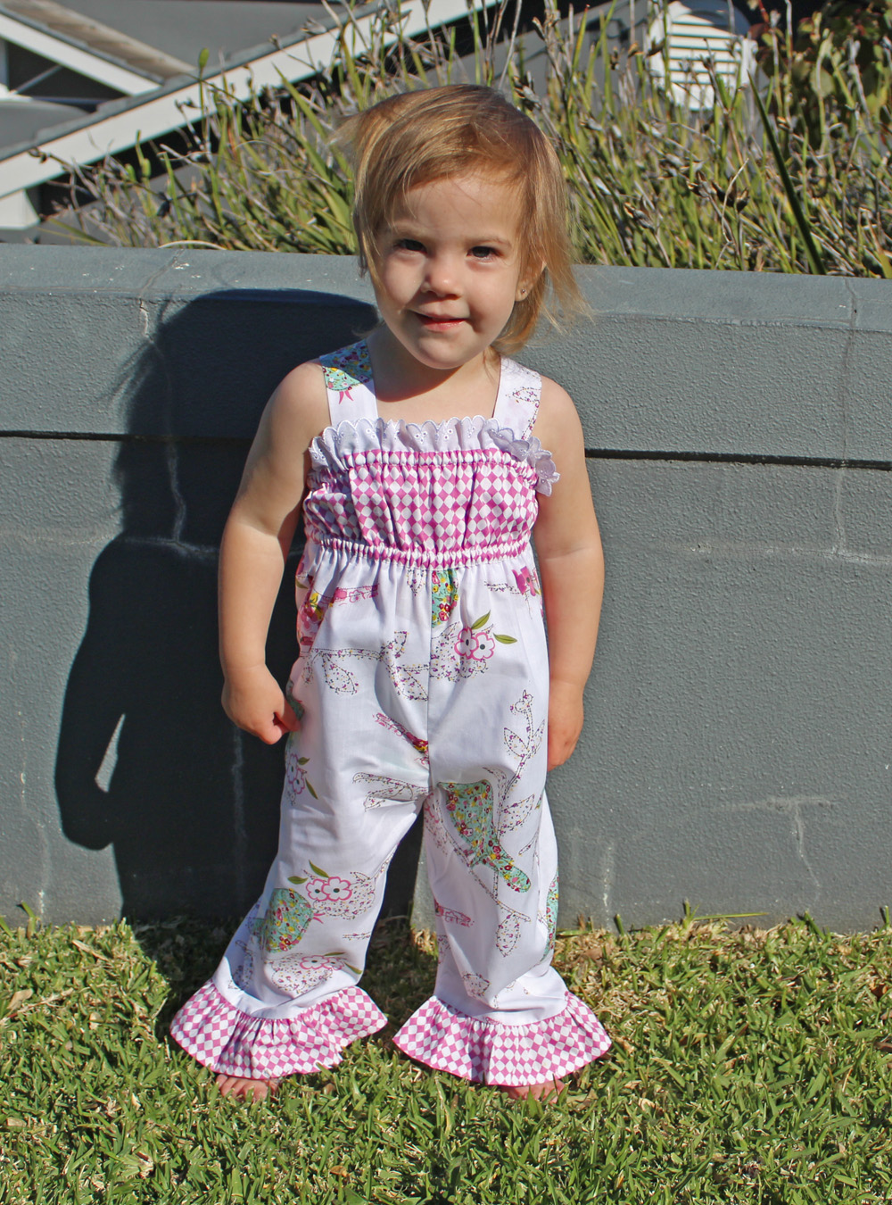 Baby Girl Romper sewing pattern PLAYGROUND ROMPER