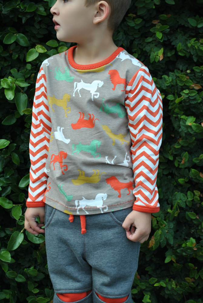 Kids Sloppy T Shirt sewing pattern, SLOPPY JOE TOP