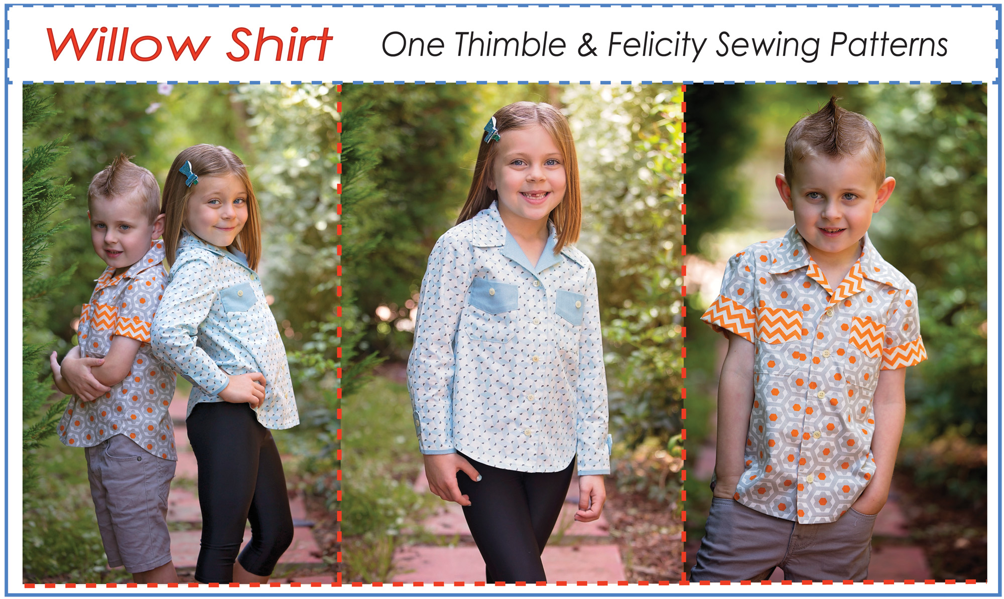 Casual Shirt for Boys & Girls WILLOW SHIRT sewing pattern