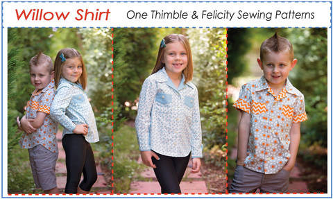 Casual Shirt for Boys & Girls WILLOW SHIRT sewing pattern at Makerist