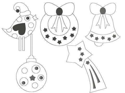 Redwork Serie Weihnachten Set 2 Stickdatei 10x10 bei Makerist