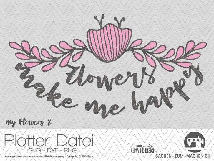 """Plotter-Datei """"my flowers"""" #2 bei Makerist - Bild 1"""