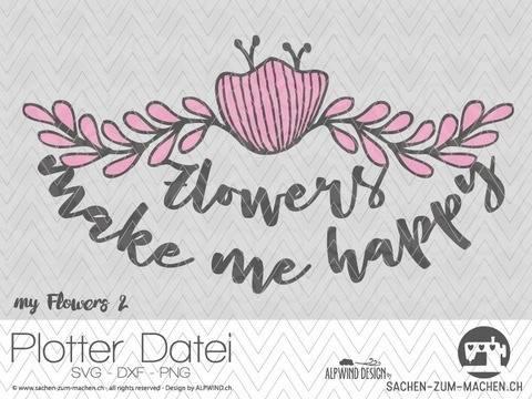 "Plotter-Datei ""my flowers"" #2"