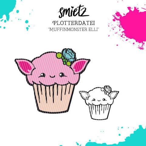 """Plotterdatei """"Muffinmonster Elli"""" inklusive Minilizenz bei Makerist"""
