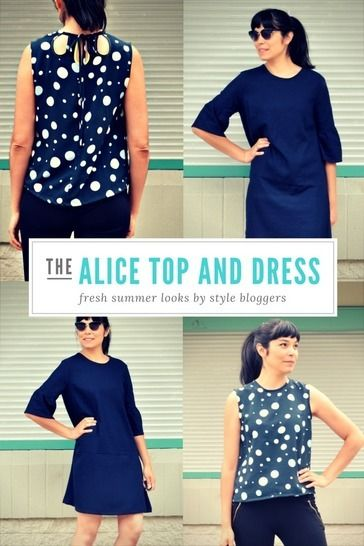 The Alice Top, Tunic and Dress pattern at Makerist - Image 1