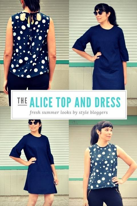 The Alice Top, Tunic and Dress pattern at Makerist