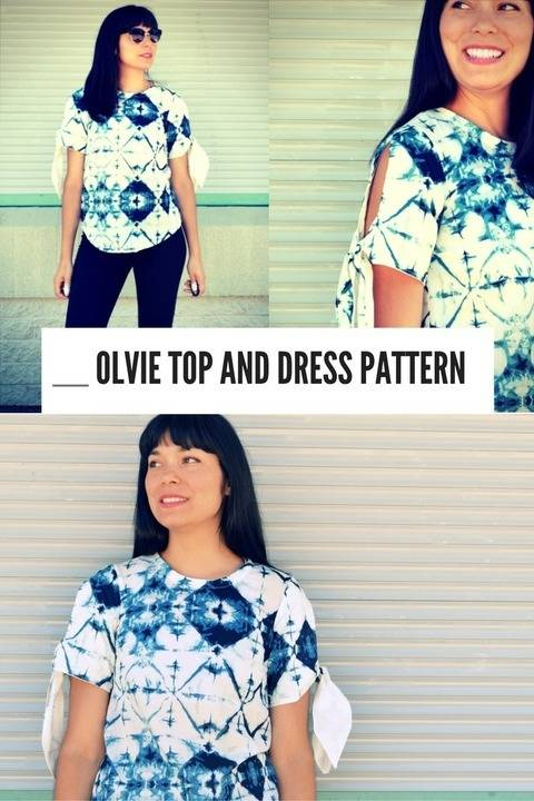 The Olvie Top and Dress pattern