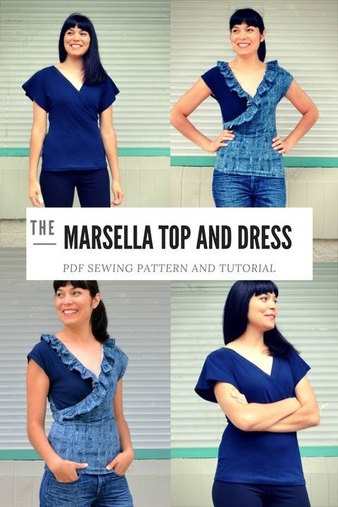 The Marsella Top and Dress pattern at Makerist