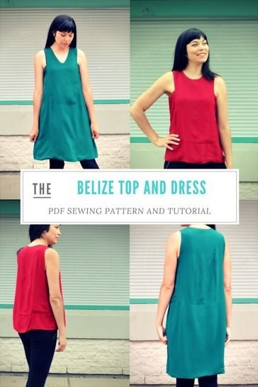 The Belize Top and Dress pattern at Makerist - Image 1