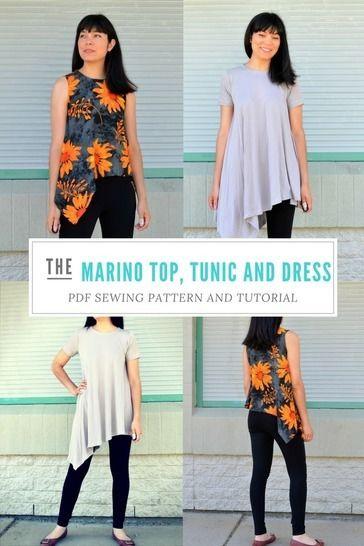 The Marino Top and Dress Pattern at Makerist - Image 1