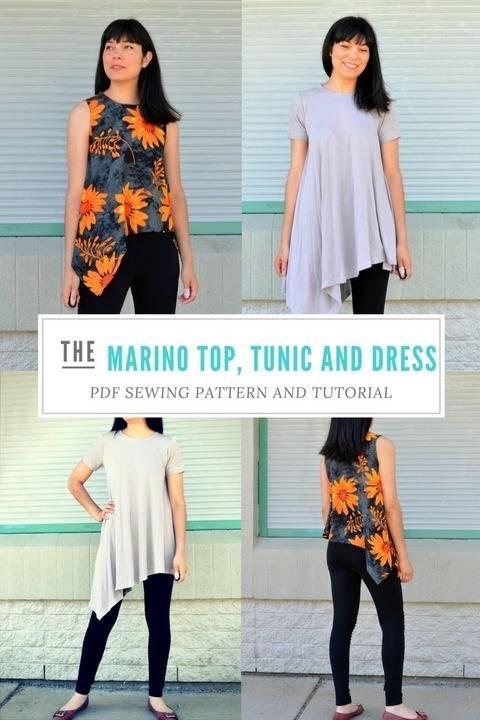 The Marino Top and Dress Pattern