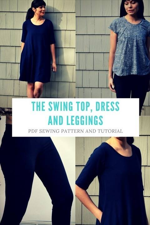The Swing Top, Tunic and Dress PDF sewing pattern at Makerist