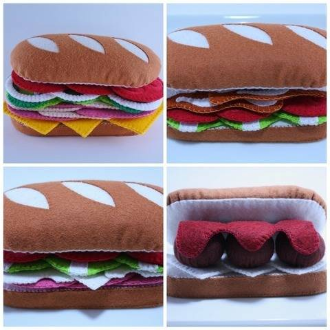 Felt Food Sewing Pattern Sub Sandwich