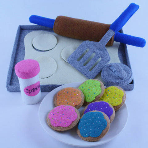 Felt Food Sewing Pattern Cookie Baking Set at Makerist