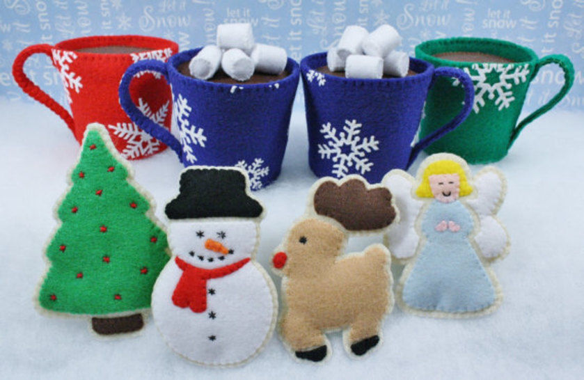 Felt Food Sewing Pattern Cocoa and Christmas Cookies at Makerist - Image 1