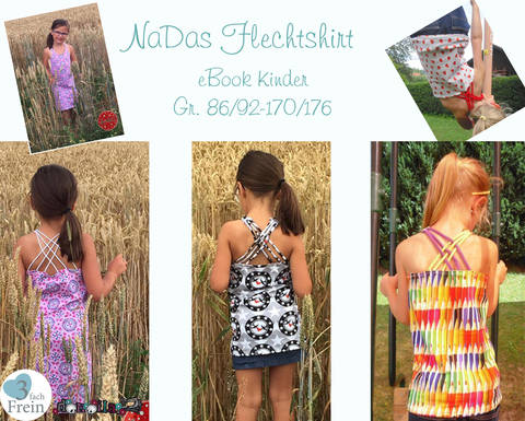 "eBook NaDas ""Kinder Flechtshirt"" Gr.86/92-170/176"