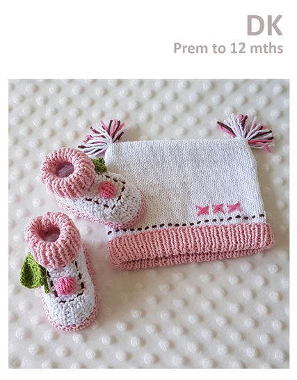 Cupcake Booties and Beanie Set at Makerist - Image 1