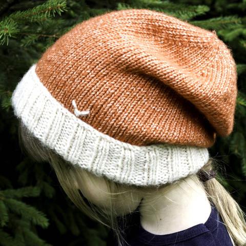 Mütze (Beanie) Fuchs - Strickanleitung, einfach und warm bei Makerist