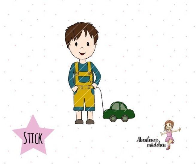 Julian - kleiner Junge Stickdatei bei Makerist - Bild 1