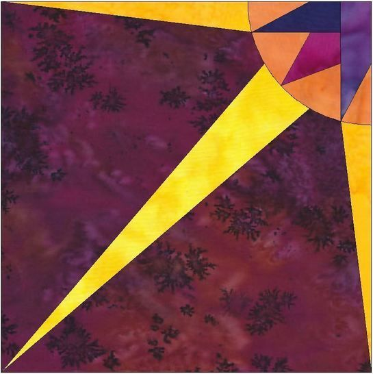 HC Quarter Star 5 - 10 Inch Paper Piecing Foundation Quilting Pattern at Makerist - Image 1