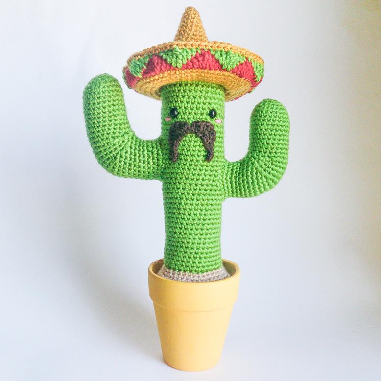 Cactus Mexicain - Tutoriel d'amigurumi au crochet