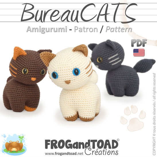 BureauCATS - Amigurumi Pattern American terminology at Makerist - Image 1