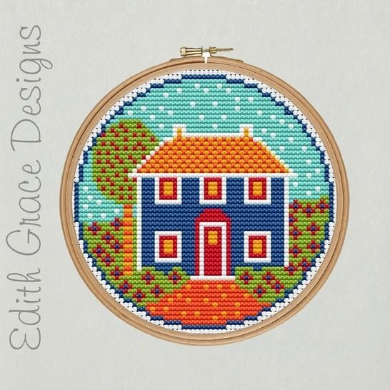 Folk House Embroidery Pattern at Makerist - Image 1