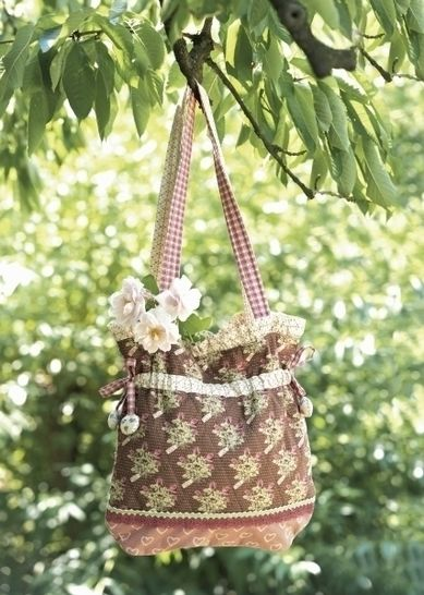 Genähte Romantiktasche aus Musterstoffen und Spitzen bei Makerist - Bild 1
