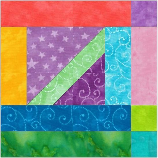 HC Geometrical 15 Inch Block Quilting Template Pattern at Makerist - Image 1