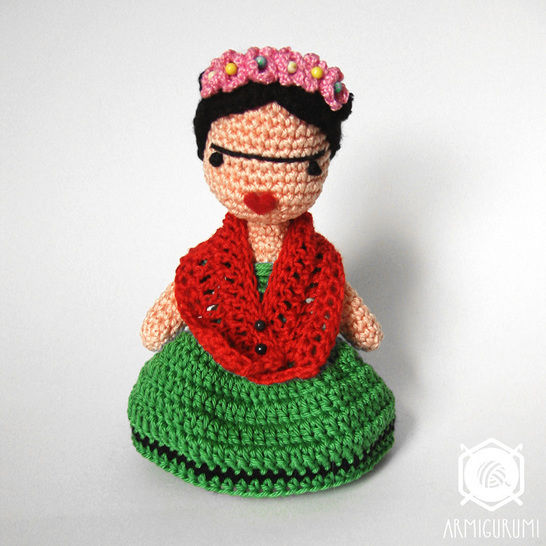 Frida Kahlo Doll - Amigurumi crochet pattern at Makerist - Image 1