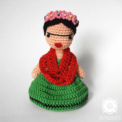 Frida Kahlo Doll - Amigurumi crochet pattern at Makerist