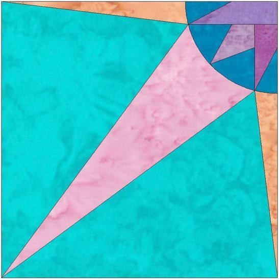 HC Quarter Star 7 - 10 Inch Paper Piecing Foundation Quilting Block Pattern at Makerist - Image 1