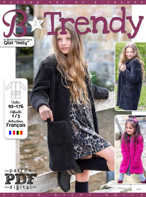 Gilet HOLLY Patron de Couture + Tutoriel chez Makerist
