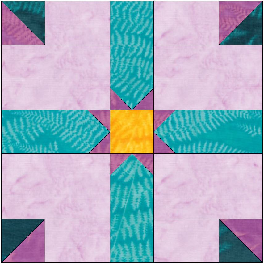 HC Rising Star 15 Inch Block Template Quilting Pattern