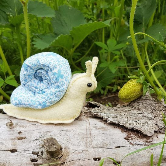 Woodland Snail Stuffed Animal Pattern at Makerist - Image 1
