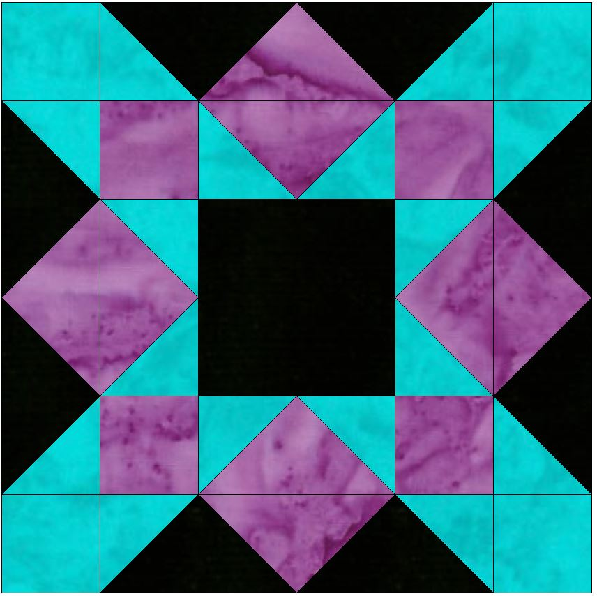 HC Crossing 15 Inch Block Quilting Template Pattern