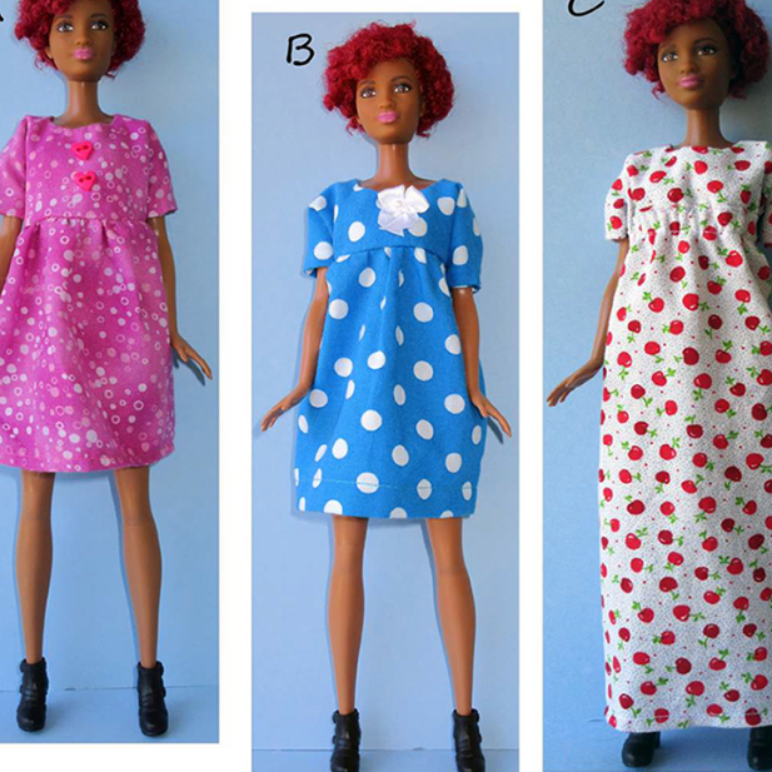 Barbie Tall Doll Summer Dresses Sewing Pattern