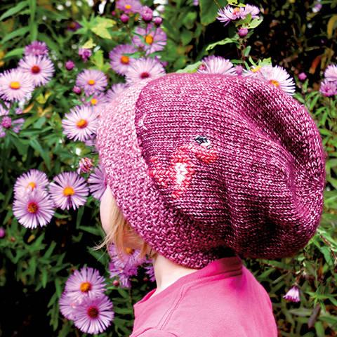 Mütze (Beanie) Flamingo - Strickanleitung, einfach und warm bei Makerist
