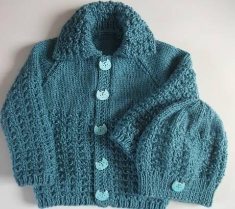 Bobby Jacket and Hat Knitting pattern at Makerist
