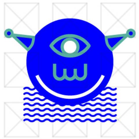 Die blauen Köpfe - Alien - Plotterdatei