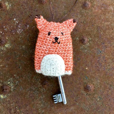 Schlüsselanhänger/Hülle Fuchs - Mitbringsel sehr einfach und schnell bei Makerist